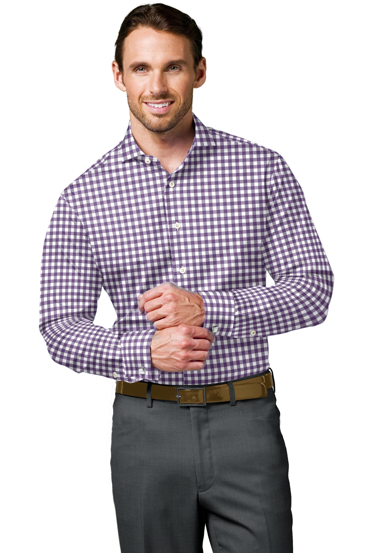 Purple Twill Check