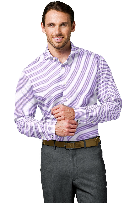 Lavender Bold Stripe
