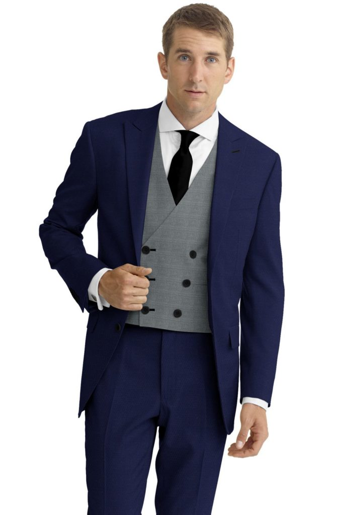 Blue Suit showing the example of a good looking wedding suit